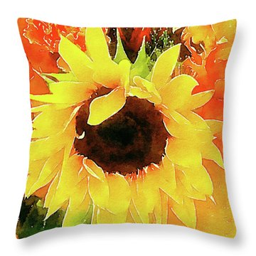 This Ain't No Mellow Yellow Throw Pillow by Michele Ross