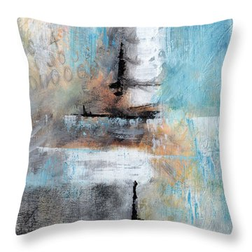 Throw Pillow featuring the painting This April by Rick Baldwin