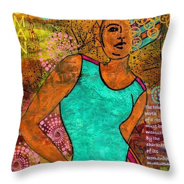 This Artist Speaks Truth Throw Pillow by Angela L Walker