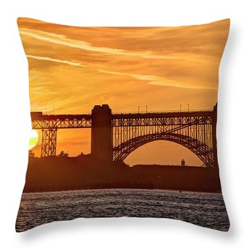 Throw Pillow featuring the photograph This Bridge Never Gets Old by Peter Thoeny
