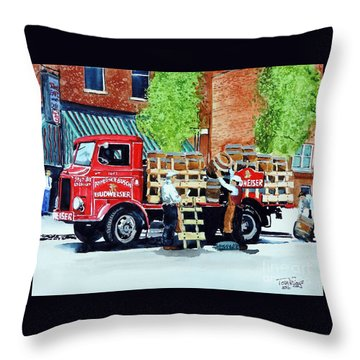 This Bud's For You Throw Pillow by Tom Riggs