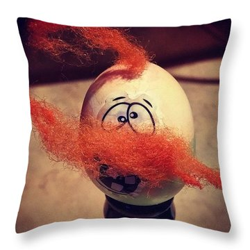 This Egg Throw Pillow