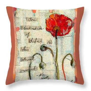 Throw Pillow featuring the painting This Eternal Moment by Carrie Joy Byrnes