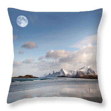 Throw Pillow featuring the photograph This Feeling by Philippe Sainte-Laudy
