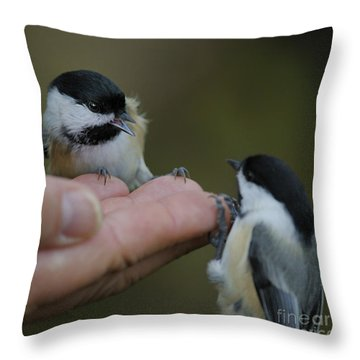 This Hand Is Mine Throw Pillow by Nina Stavlund
