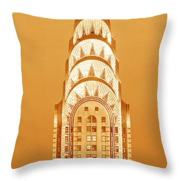 Chrysler Building At Sunset Throw Pillow