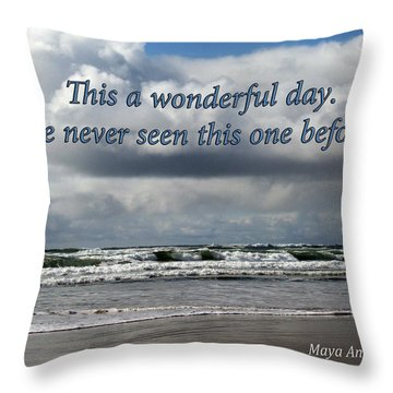 This Is A Wonderful Day Throw Pillow