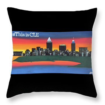 This Is Cle Throw Pillow by Cyrionna The Cyerial Artist