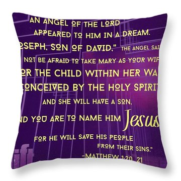 This Is How Jesus The Messiah Was Born Throw Pillow