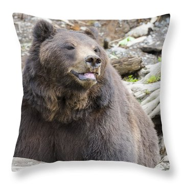 This Is Me Smiling Throw Pillow