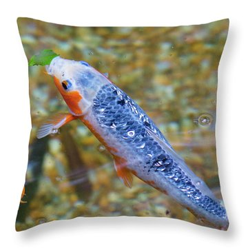 This Is Mine Fish Throw Pillow