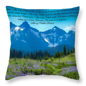 This Is My Fathers World 3 Throw Pillow