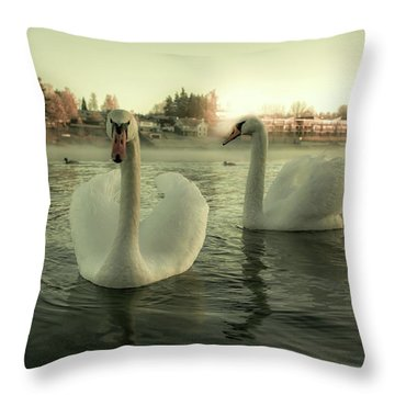This Is Purity And Innocence Throw Pillow by Rose-Marie Karlsen