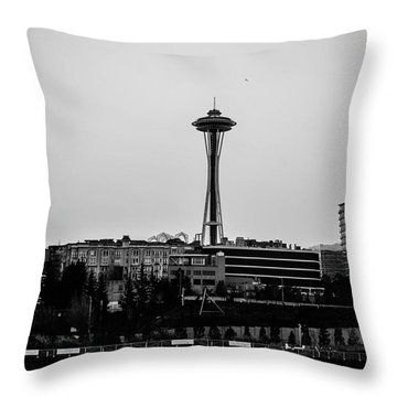 This Is Seattle Black And White Throw Pillow