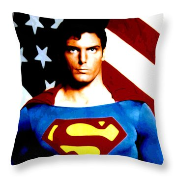 This Is Superman Throw Pillow by Saad Hasnain