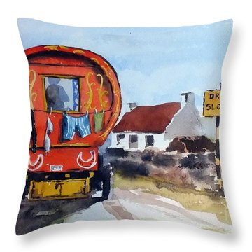 F 808  Whats Your Hurry  Throw Pillow