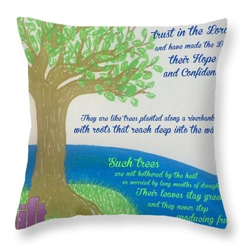 "This Is What The Lord Says: ""cursed Throw Pillow"