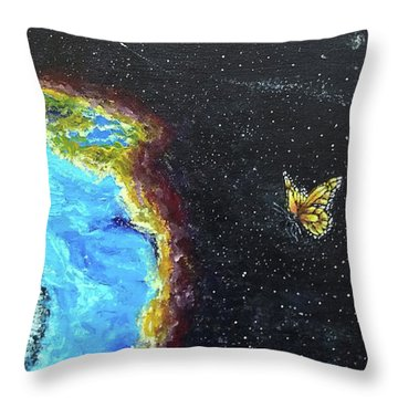 Throw Pillow featuring the painting This Is Where... by Kevin Daly