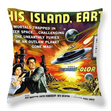 This Island Earth Science Fiction Classic Movie Throw Pillow