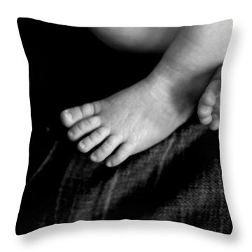 Throw Pillow featuring the photograph This Little Piggy... by Angela Rath