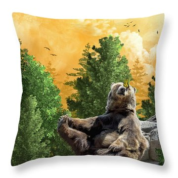 This Little Piggy Went To Market Throw Pillow by Diane Schuster