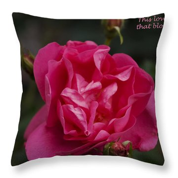This Love Throw Pillow by Rhonda McDougall