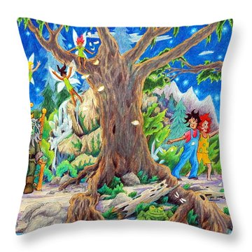 This Magical Land Throw Pillow