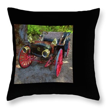 Throw Pillow featuring the photograph This Old Car by Thom Zehrfeld