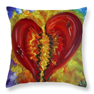 This Old Heart Of Mine Throw Pillow