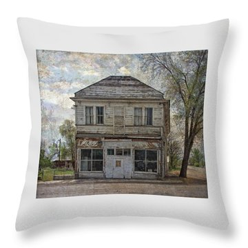 Throw Pillow featuring the photograph This Old Store by Thom Zehrfeld
