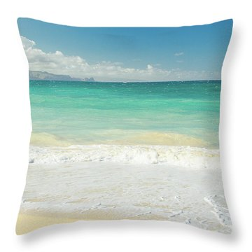 Throw Pillow featuring the photograph This Paradise Life by Sharon Mau