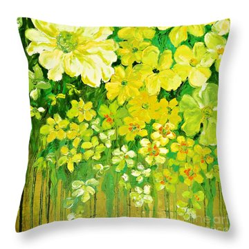 This Summer Fields Of Flowers Throw Pillow