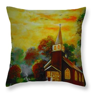 This Sunday Throw Pillow