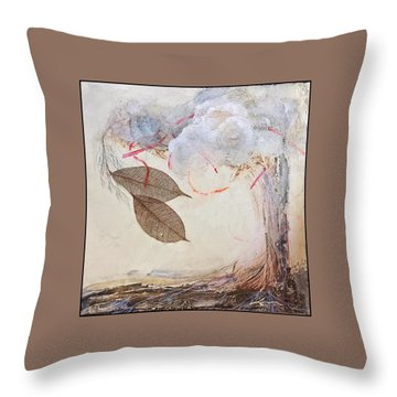 Throw Pillow featuring the mixed media This Time He Said I Love You In Such A Different Way  by Delona Seserman