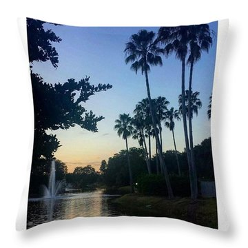 Living In A Tropical Dream Throw Pillow by Janel Cortez