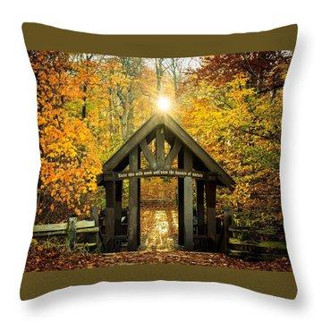 This Wild Wood Throw Pillow