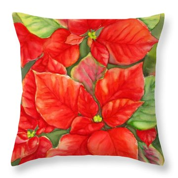 This Year's Poinsettia 1 Throw Pillow
