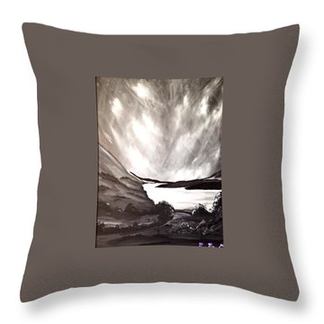 Throw Pillow featuring the painting Thistle Do Nicely by Scott Wilmot