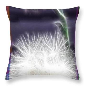 Throw Pillow featuring the photograph Thistle by EricaMaxine  Price