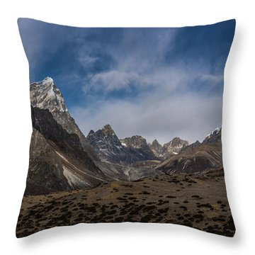 Throw Pillow featuring the photograph Thokla Pass Nepal by Mike Reid