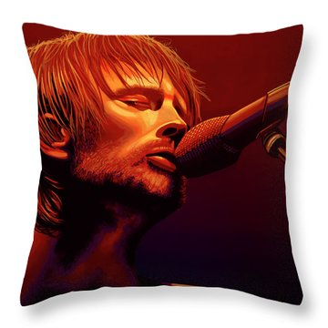 Thom Yorke Of Radiohead Throw Pillow