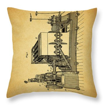 Thomas Edison Generator Patent Throw Pillow by Dan Sproul