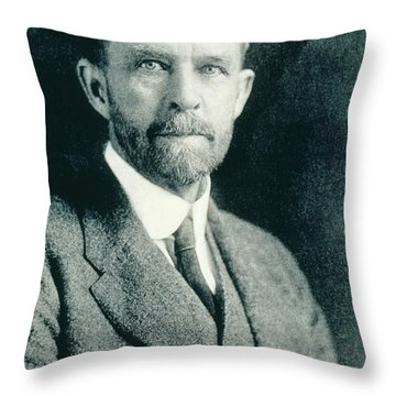 Thomas Hunt Morgan, American Geneticist Throw Pillow by Photo Researchers, Inc.