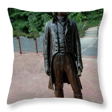 Thomas Jefferson At Monticello Throw Pillow