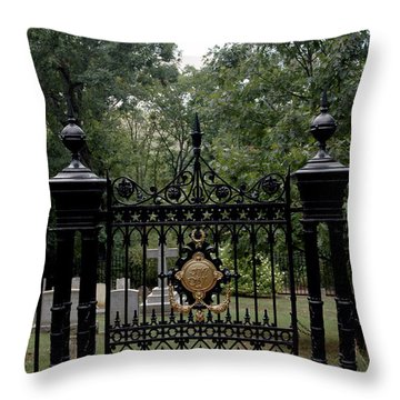 Thomas Jefferson Grave Site Monticello Throw Pillow