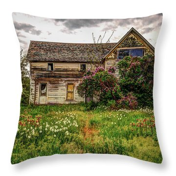 Thomas Kinkade Throw Pillow by Brad Stinson