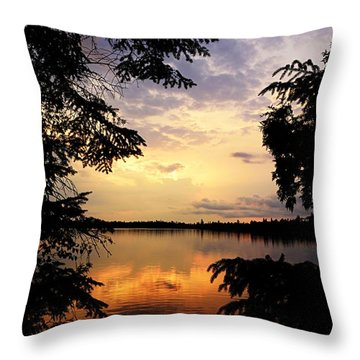 Throw Pillow featuring the photograph Thomas Lake Sunset 2 by Larry Ricker