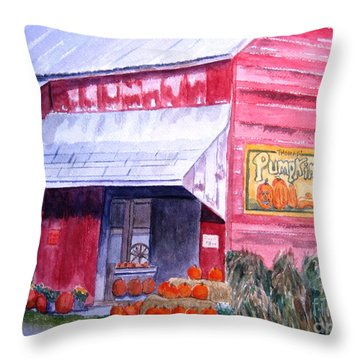 Thomas Market Throw Pillow