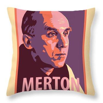 Thomas Merton - Jltme Throw Pillow