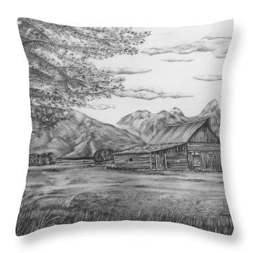 Thomas Moulton Barn Throw Pillow by Lena Auxier